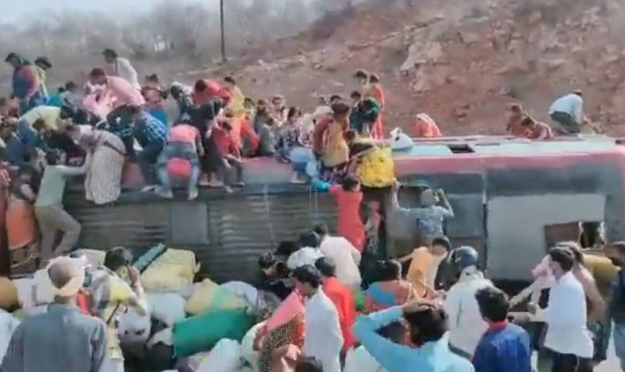 Overcrowded bus ferrying migrants from Delhi to Tikamgarh overturns, 3 dead; passengers say driver was drunk